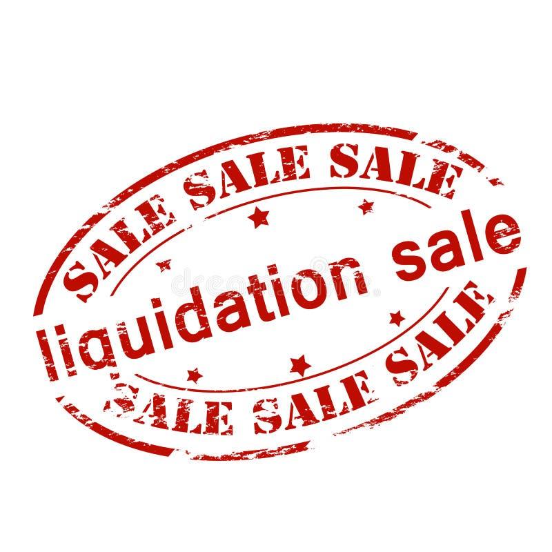 Vente de liquidation illustration de vecteur