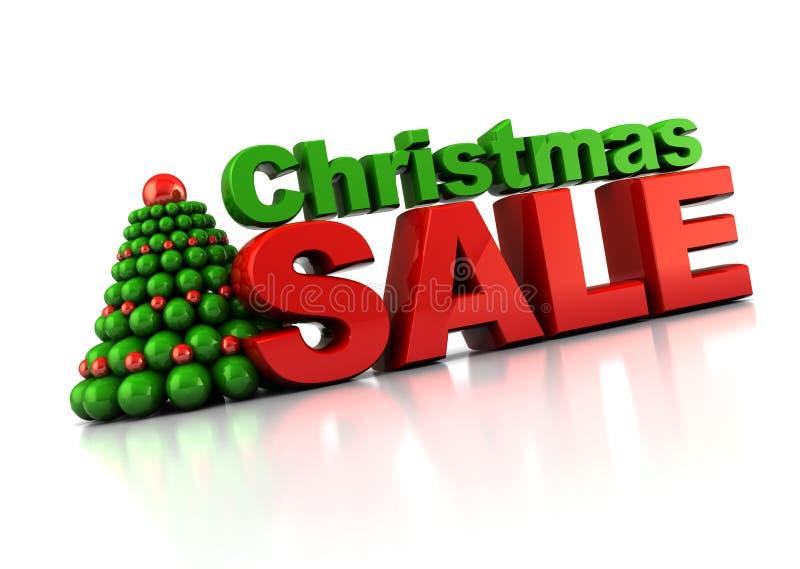 Vente de Noël illustration libre de droits