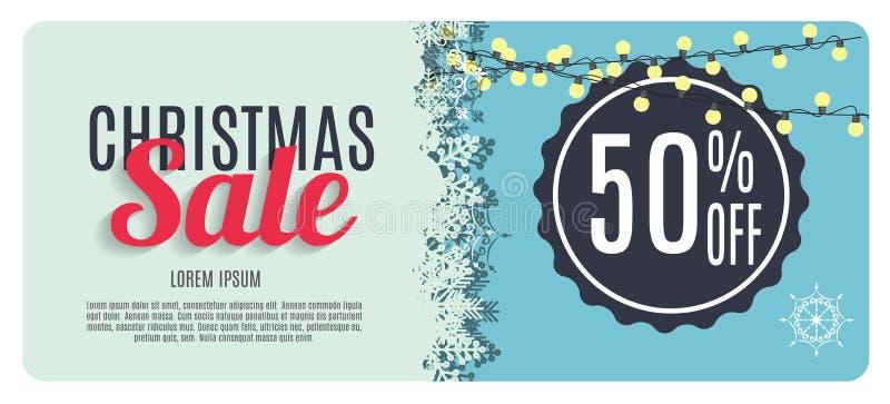 Download Vente De Noël, Fond De Bannière De Bon De Remise Illustration de Vecteur - Illustration du conception, snowflake: 77151687