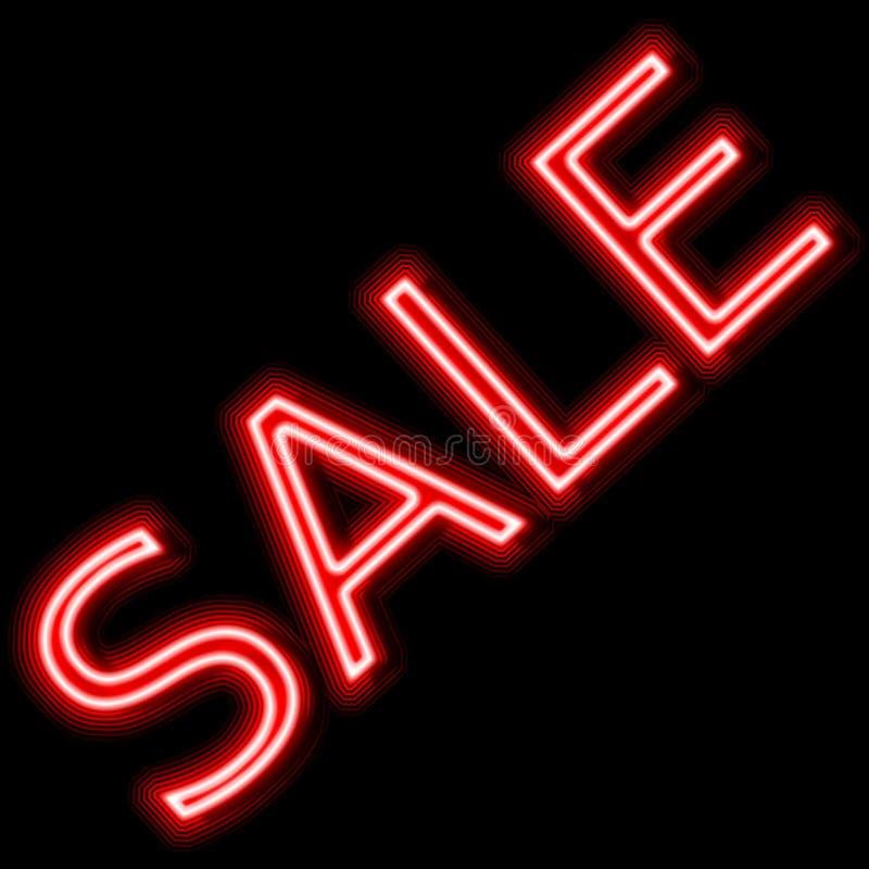 Vente de promotion au néon de signe rouge de vente photos stock