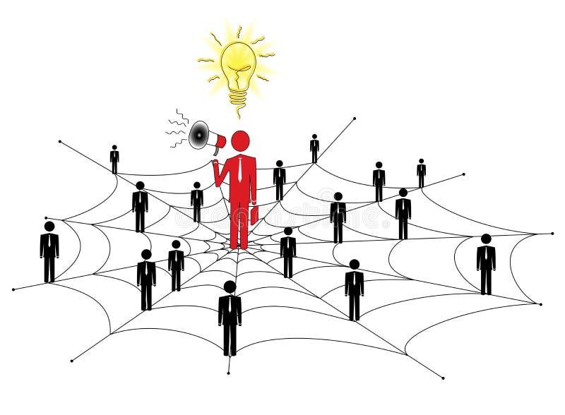 Vente de réseau illustration libre de droits