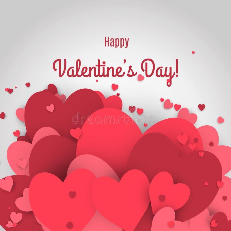 Vente de Saint-Valentin Lettres avec le fond et la réflexion de valentine de coeurs illustration stock