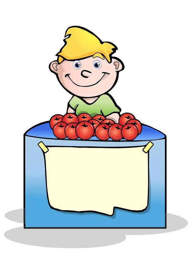 Vente de tomates illustration libre de droits