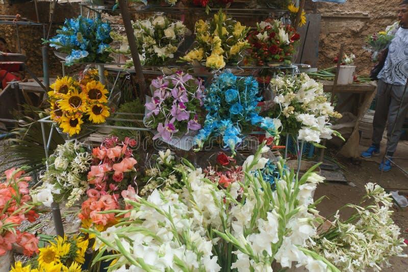Vente des bouquets images stock