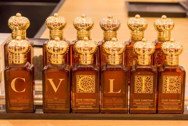 Vente des parfums Boutique de parfum chrétien clive La Russie, Moscou images stock