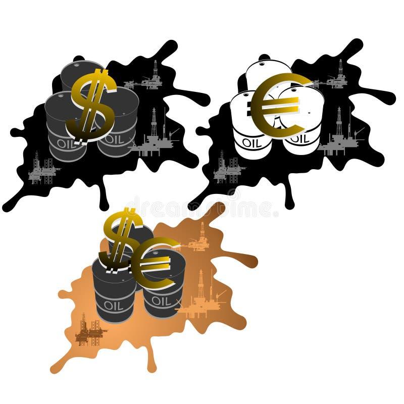 Vente des produits pétroliers illustration libre de droits