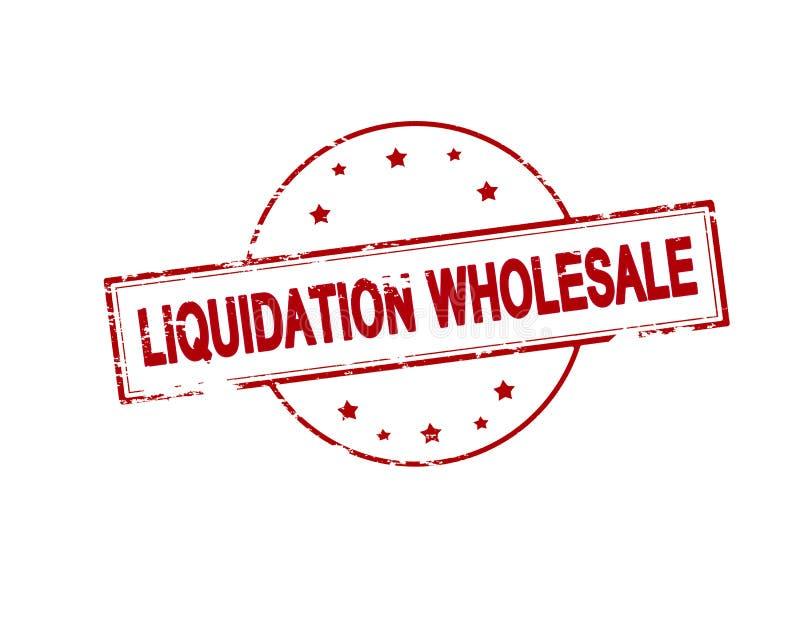 Vente en gros de liquidation illustration stock