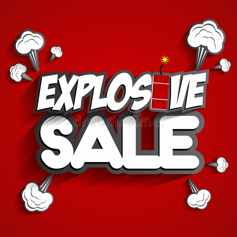 Vente explosive illustration stock