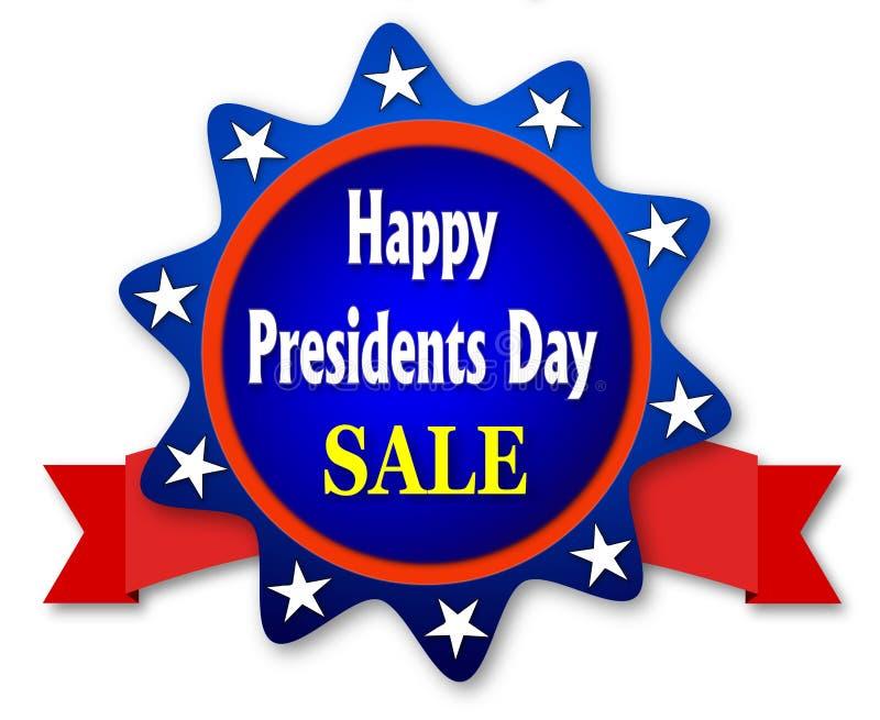 Vente heureuse de jour de présidents illustration de vecteur