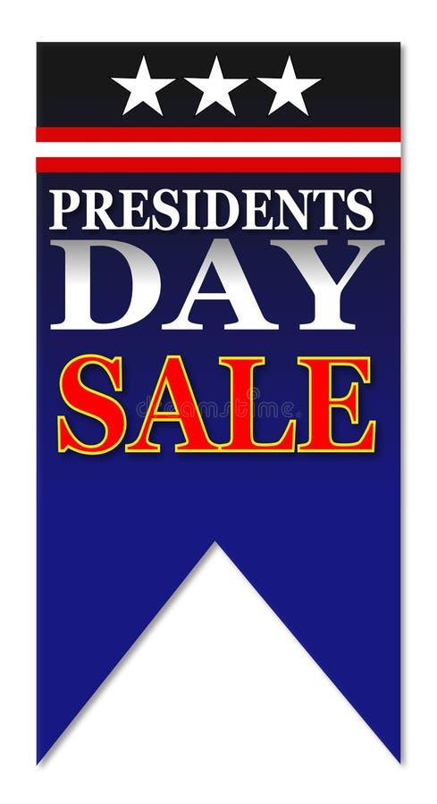 Vente heureuse de jour de présidents illustration libre de droits