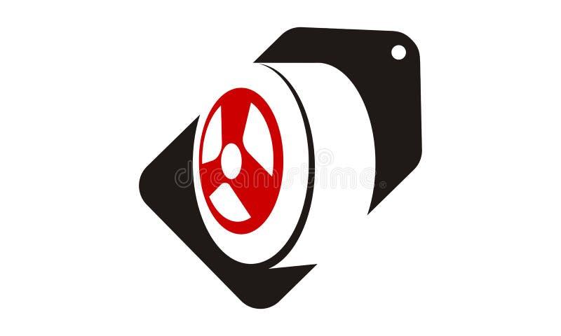 Vente Logo Design Template de pneu illustration de vecteur