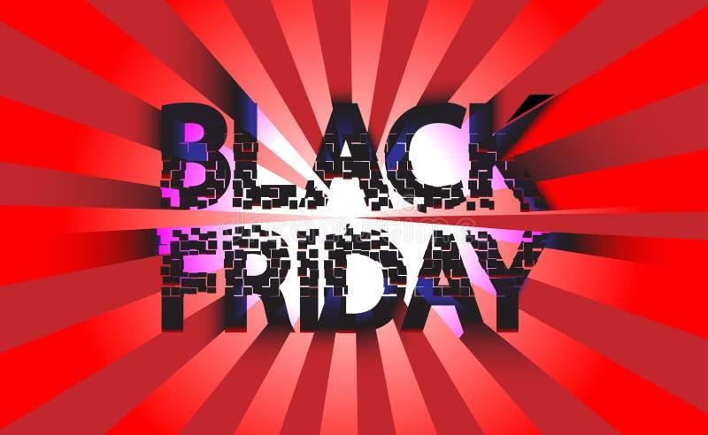 Vente noire de fond de légende de vente de vendredi pour la bannière, menu Illustration de vecteur ENV 10 illustration libre de droits