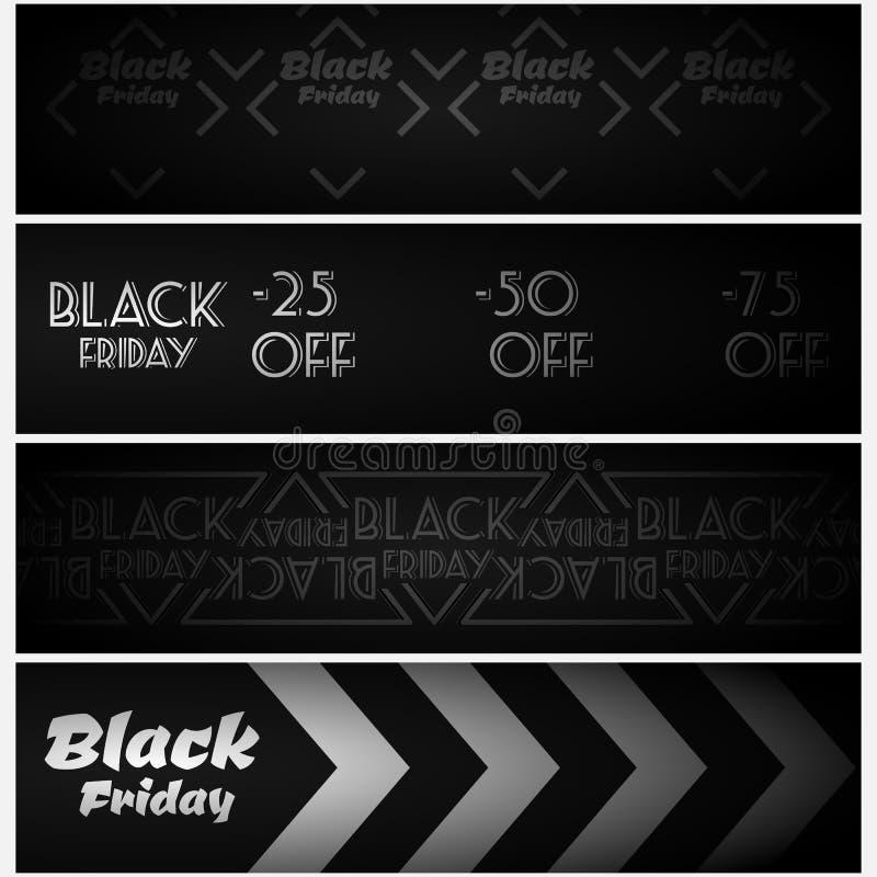 Vente noire de vendredi Drapeaux de Web illustration libre de droits