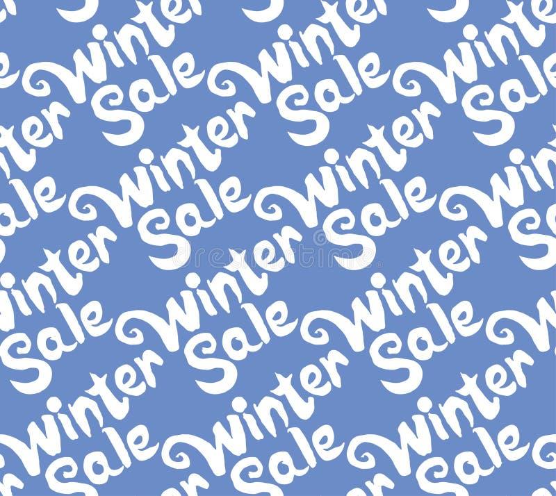 Vente sans couture d'hiver de modèle illustration stock