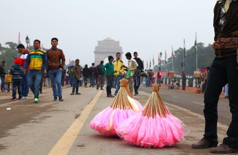 Venters bij de Poort van India, New Delhi, India royalty-vrije stock afbeelding