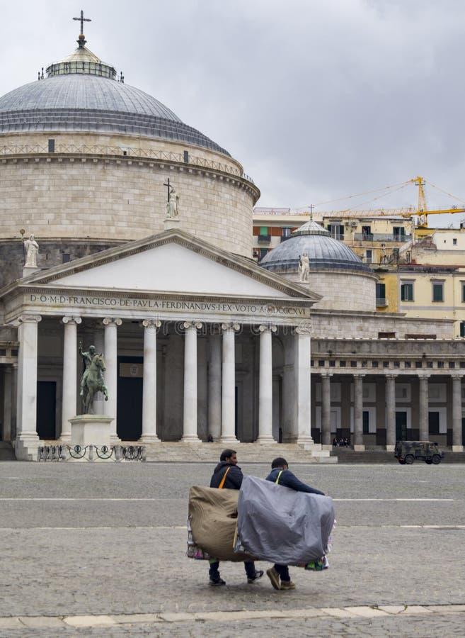 Venters Napoli stock foto
