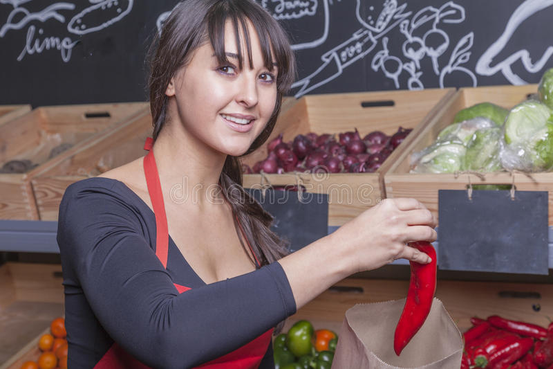 Ventes auxiliaires au marchand de légumes photos libres de droits