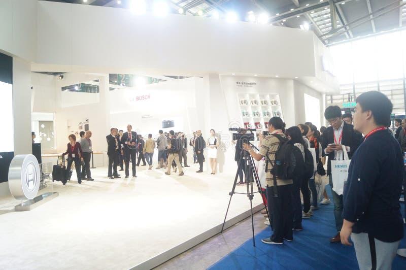 Ventes d'exposition d'appareils ménagers de BOSCH photographie stock libre de droits