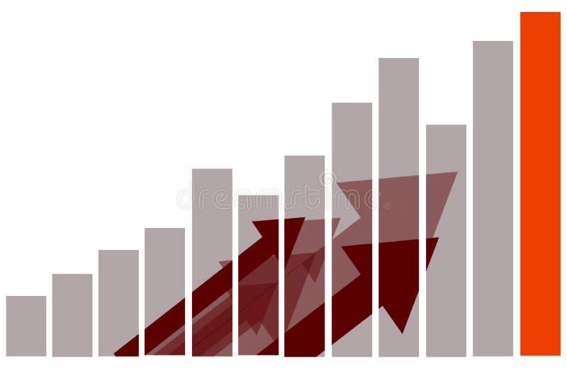 Ventes de commercialisation d'affaires de finances illustration libre de droits