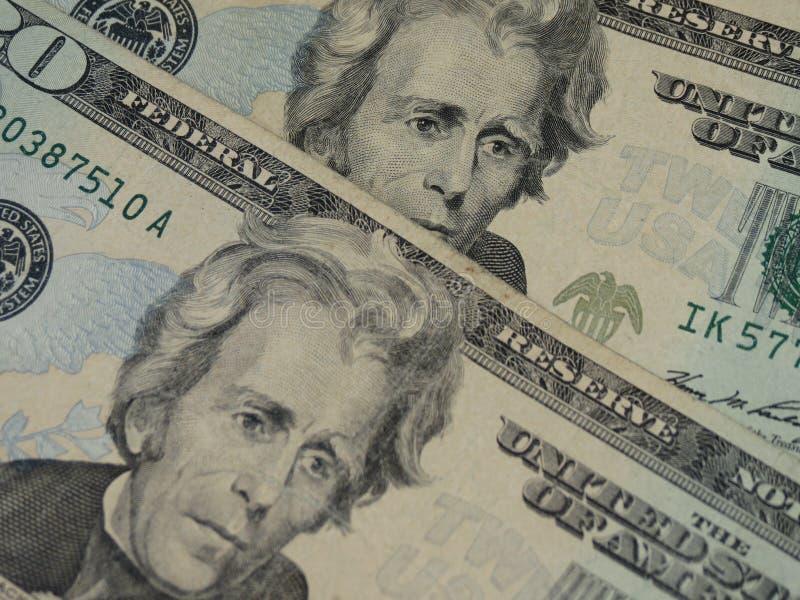Venti dollari bill fotografia stock libera da diritti