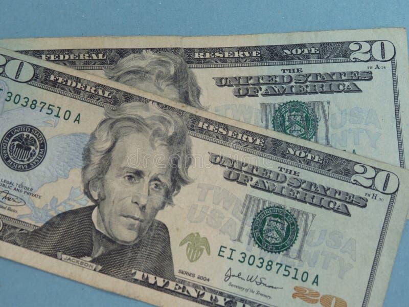 Venti dollari bill fotografie stock