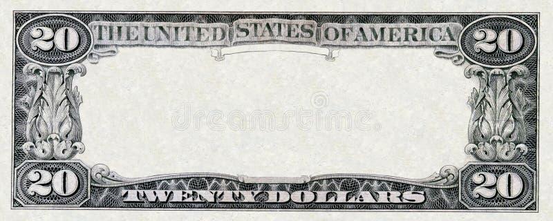 Venti dollari di blocco per grafici fotografia stock