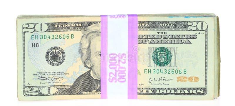 Venti fatture del dollaro illustrazione di stock