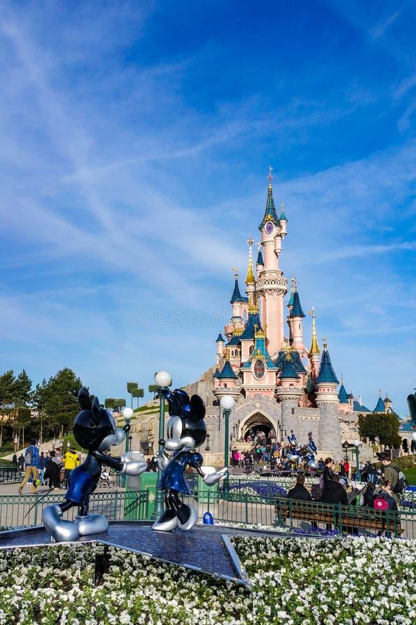 venticinquesimo anniversario di Disneyland Parigi fotografie stock libere da diritti