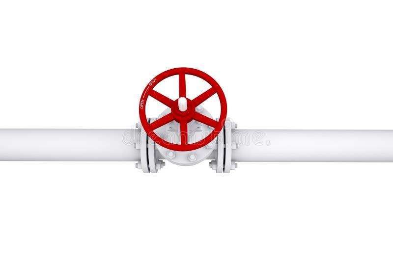 Ventil på pipelinen stock illustrationer
