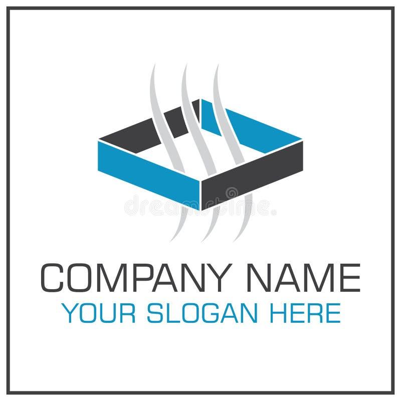 Ventilação/logotipo do vetor do sumário do sistema transferência do ar para a empresa de acondicionamento ilustração do vetor