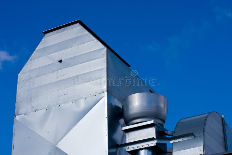 Ventilación industrial de la azotea foto de archivo libre de regalías