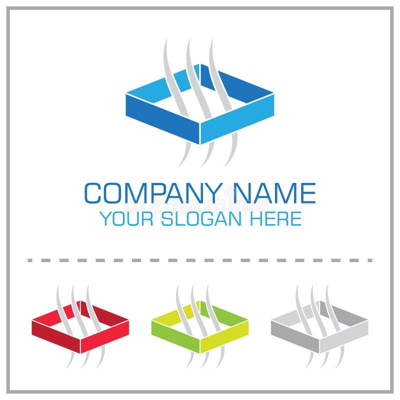 Ventilación/logotipo del vector del extracto del sistema de transferencia del aire para la compañía de condicionamiento libre illustration