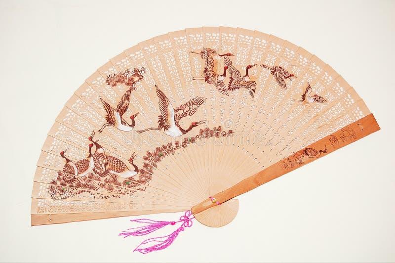 Ventilador chinês de madeira fotografia de stock royalty free