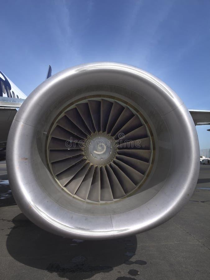 Ventilador da turbina de um avião do jato foto de stock royalty free