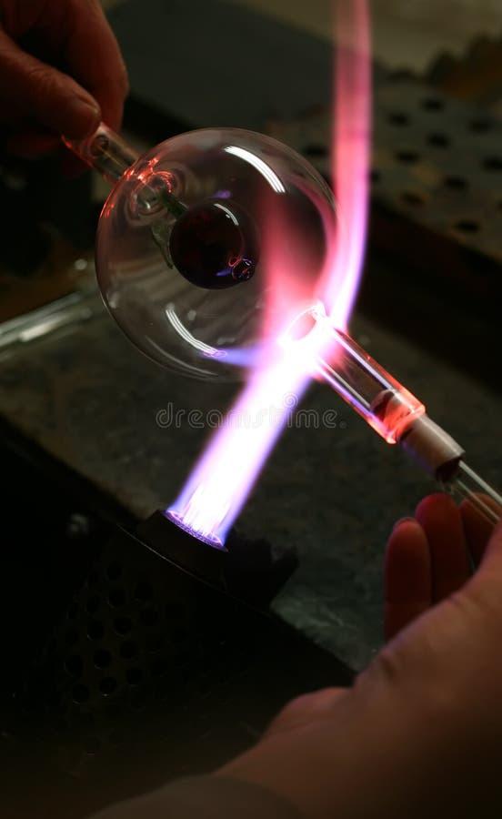Ventilador de cristal. imagen de archivo