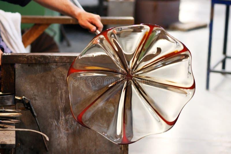 Ventilador de cristal en su trabajo imágenes de archivo libres de regalías