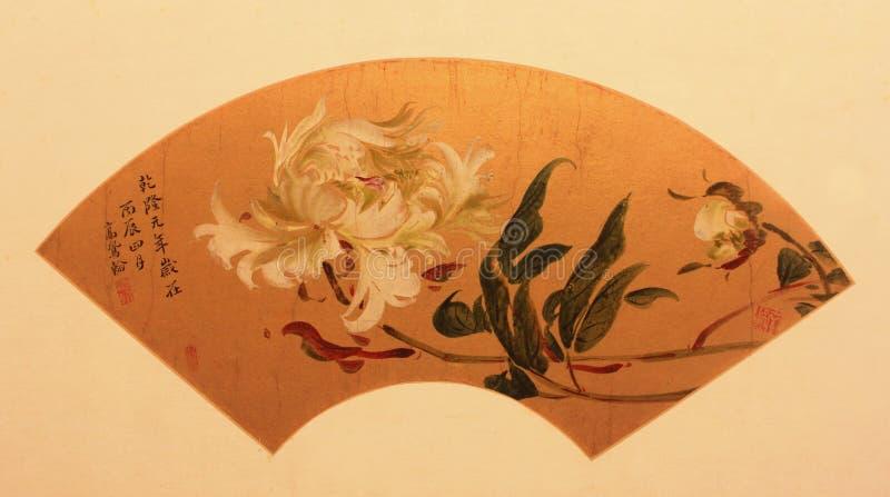 Ventilador de dobramento tradicional chinês imagens de stock