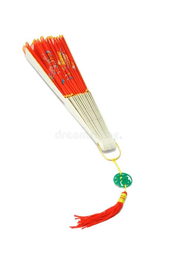 Ventilador de dobramento tradicional chinês próximo fotografia de stock