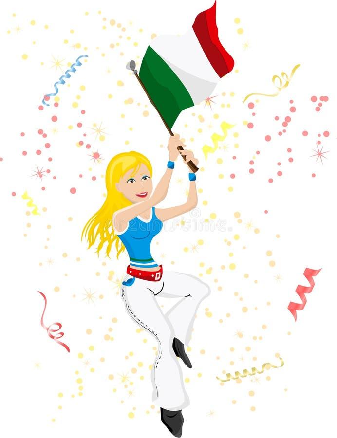 Ventilador de fútbol de Italia ilustración del vector