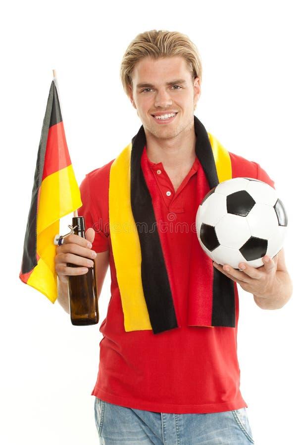 Ventilador de futebol alemão fotos de stock royalty free