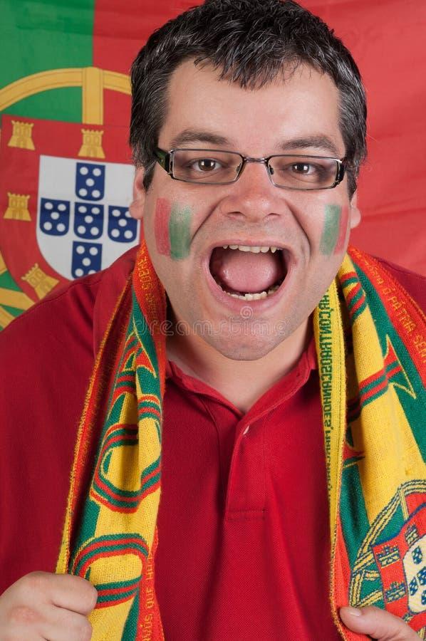 Ventilador de futebol de Portugal fotos de stock royalty free