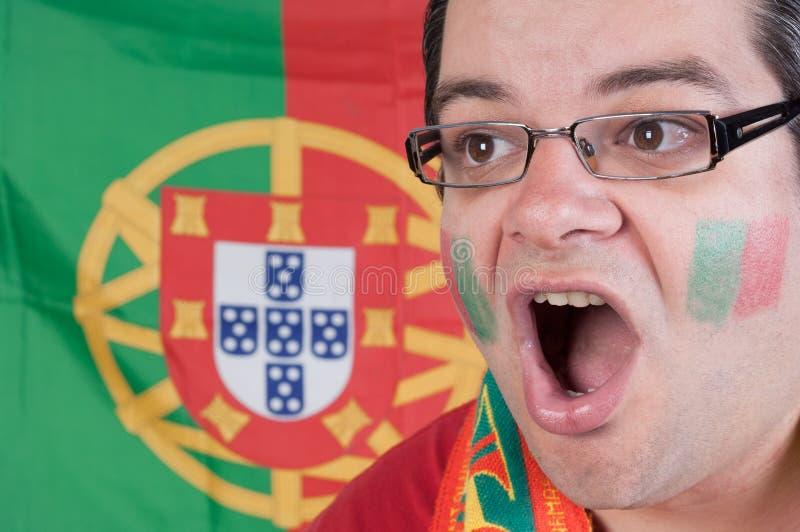 Ventilador de futebol de Portugal imagem de stock