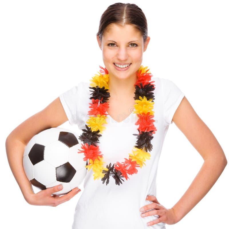 Ventilador de futebol fêmea fotos de stock royalty free