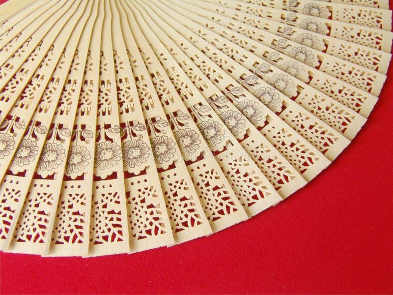 Ventilador de madeira de Stensiled imagens de stock royalty free