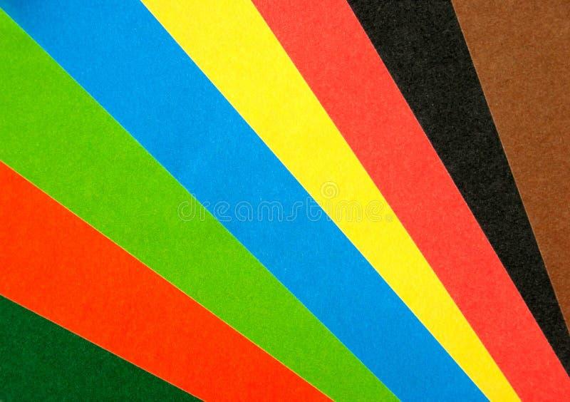 Ventilador de papel del arco iris imagen de archivo