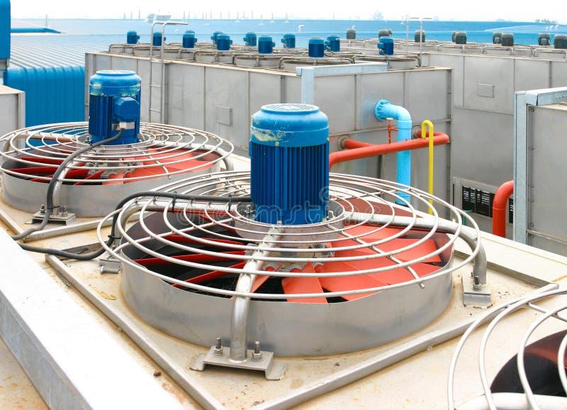 Ventilador de refrigeração elétrico da ventilação de exaustão fotografia de stock royalty free