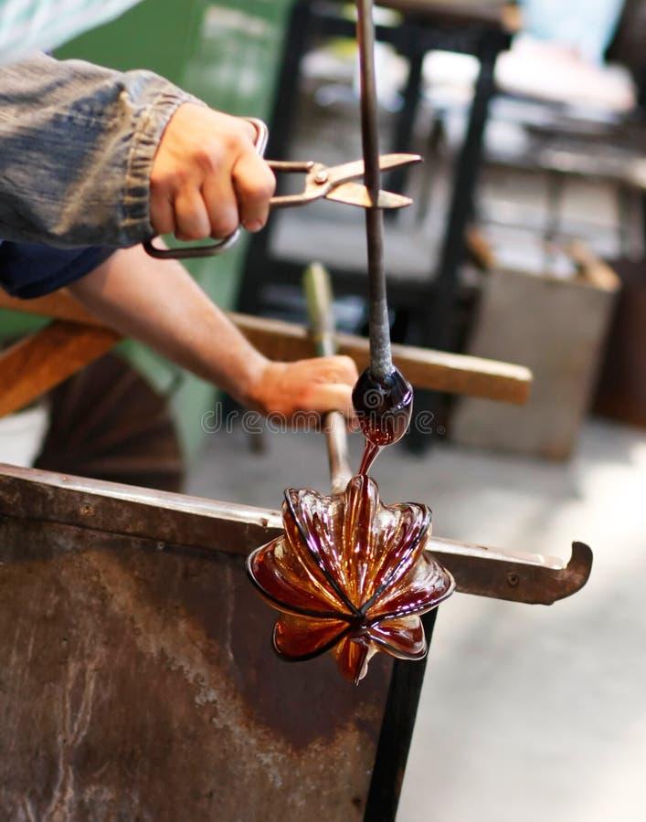 Ventilador de vidro em seu trabalho fotografia de stock