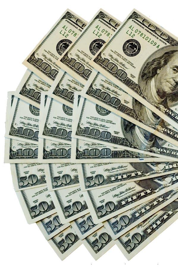 Ventilador del dinero imagen de archivo