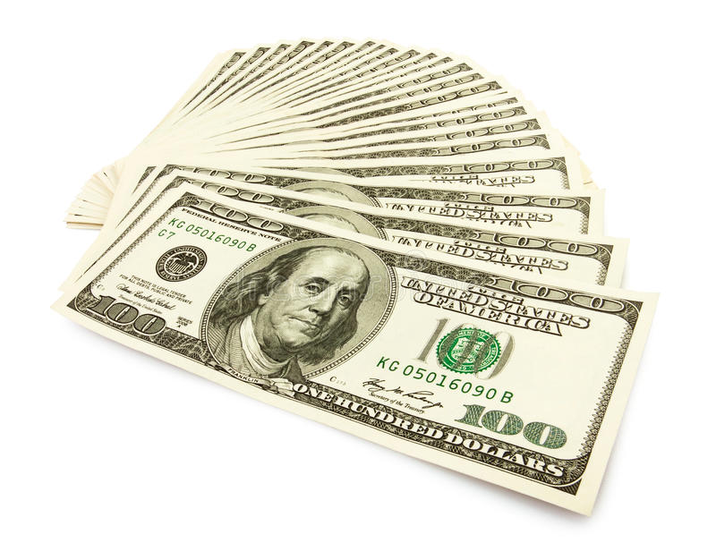 Ventilador del efectivo del dinero imagen de archivo