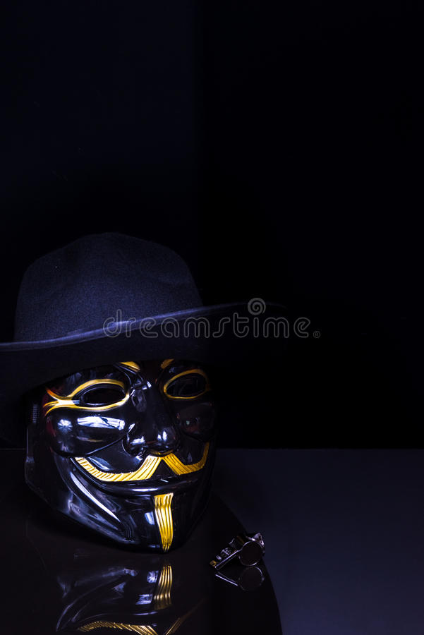 Ventilador do assobio anônimo fotos de stock royalty free